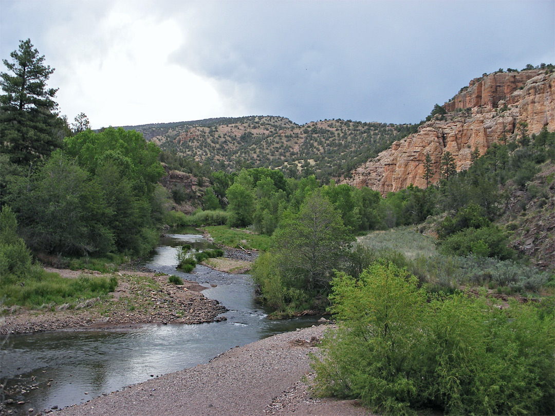 Gila River: Gila Cliff Dwellings National Monument, New Mexico