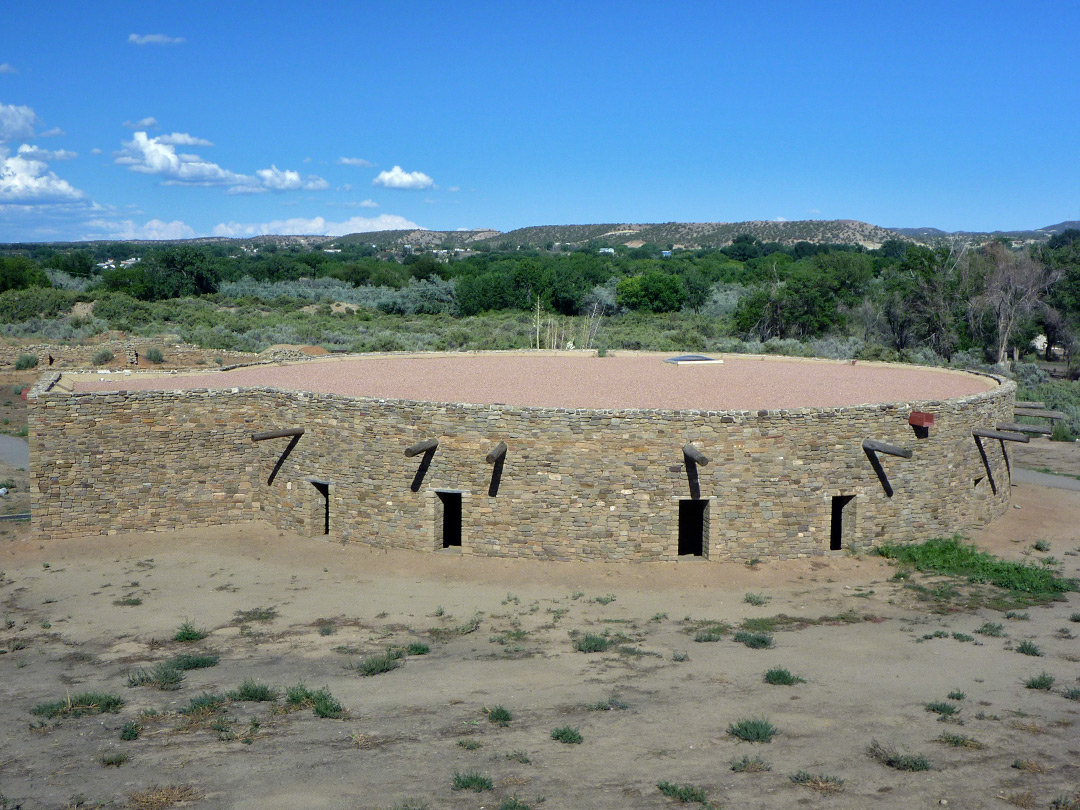 The reconstructed Great Kiva