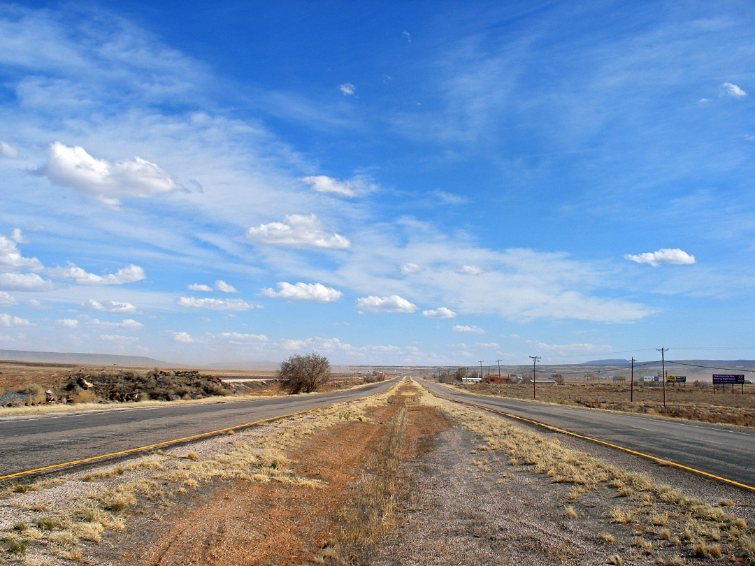 Route 66 near Prewitt