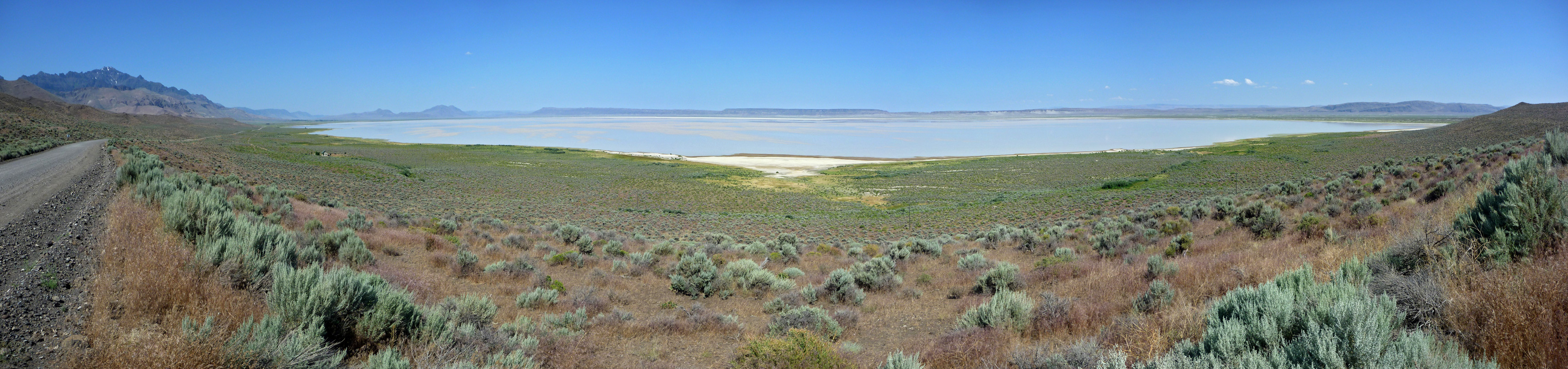 Shallow water on the Alvord Desert