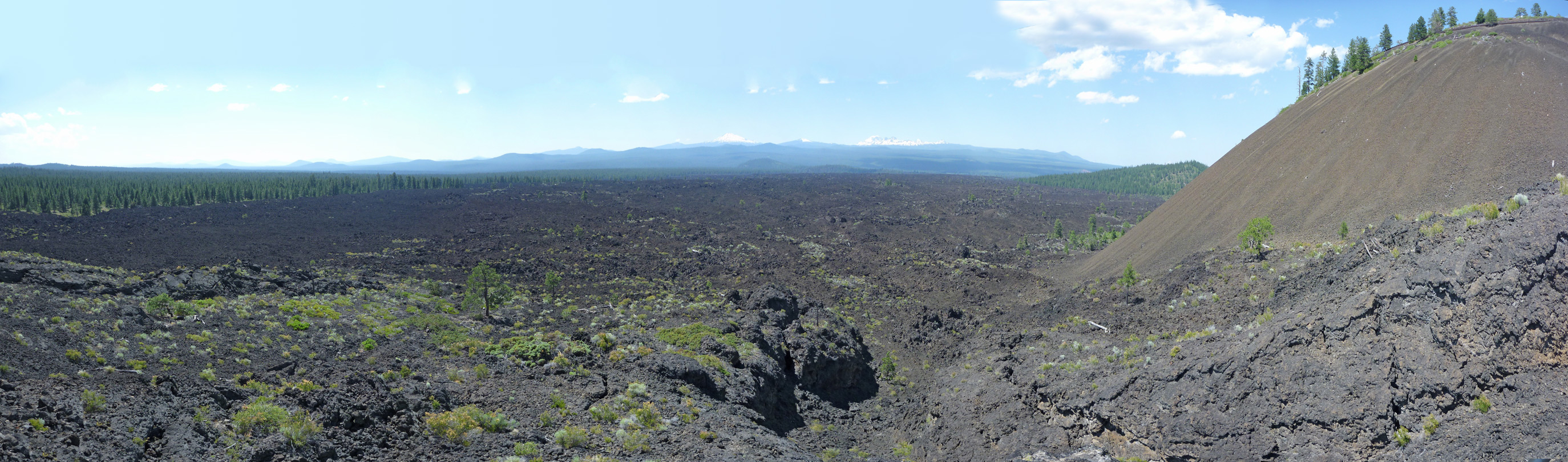 Lava Butte and the lava fields