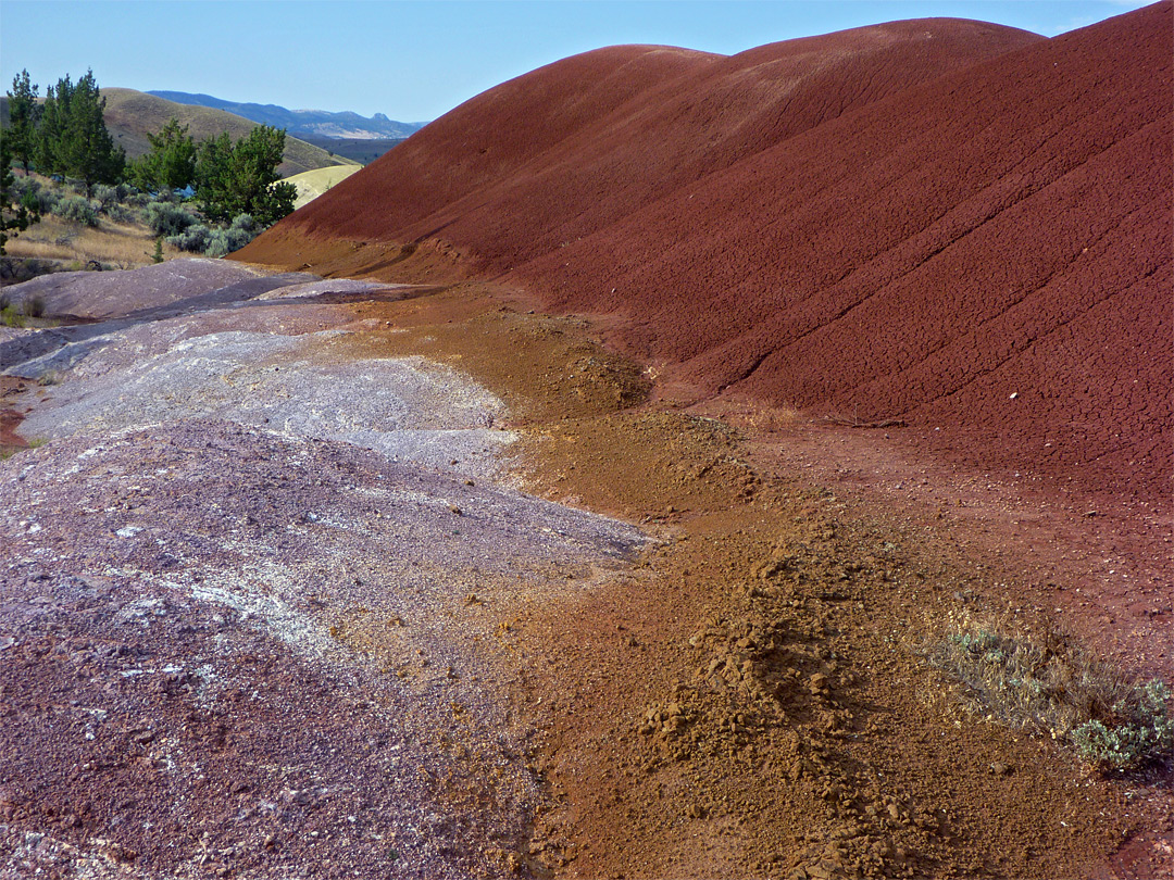 Red, brown and pink earth