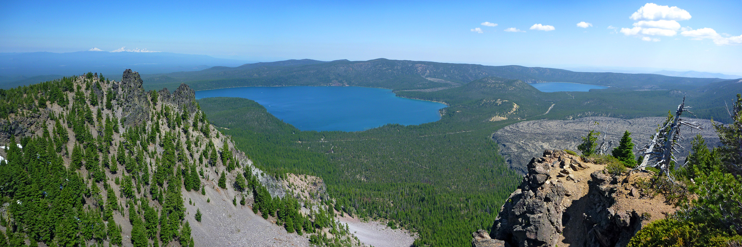 View north from the summit of Paulina Peak