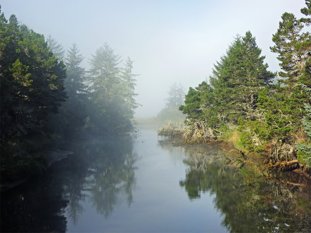 Mist above the Siltcoos River