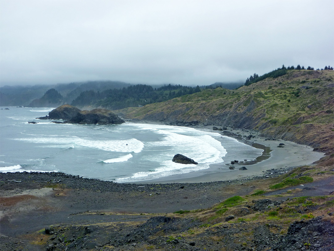 Beach and bluffs