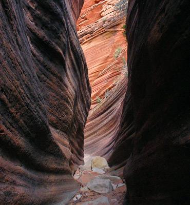 Keyhole slot canyon zion