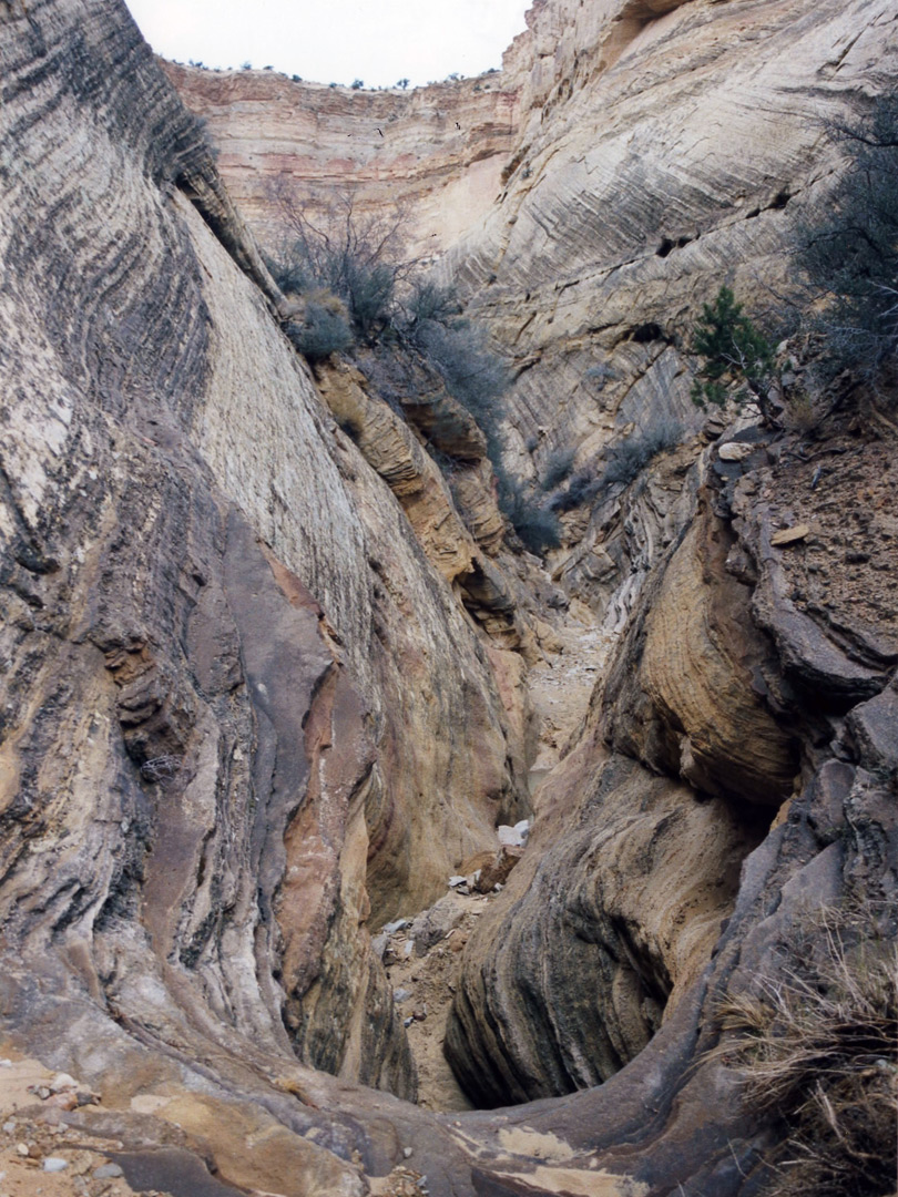 Steep side canyon