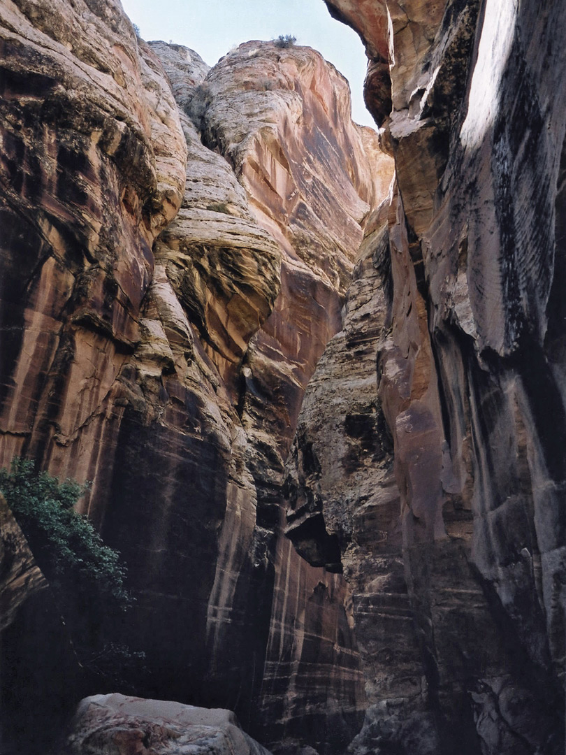 Dark section of the upper canyon