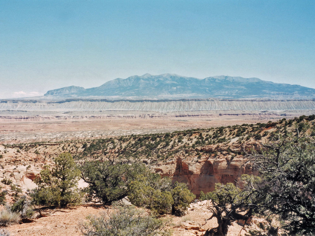 View downcanyon towards the Henry Mountains