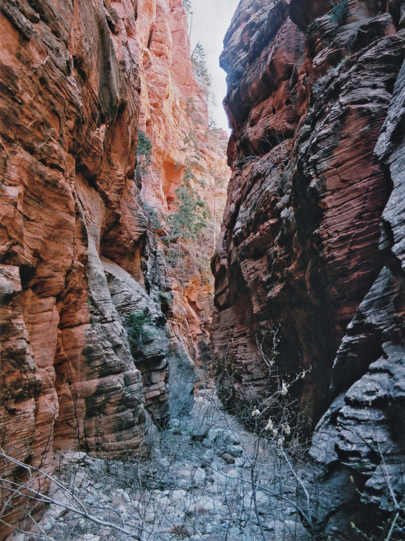 The narrowing canyon