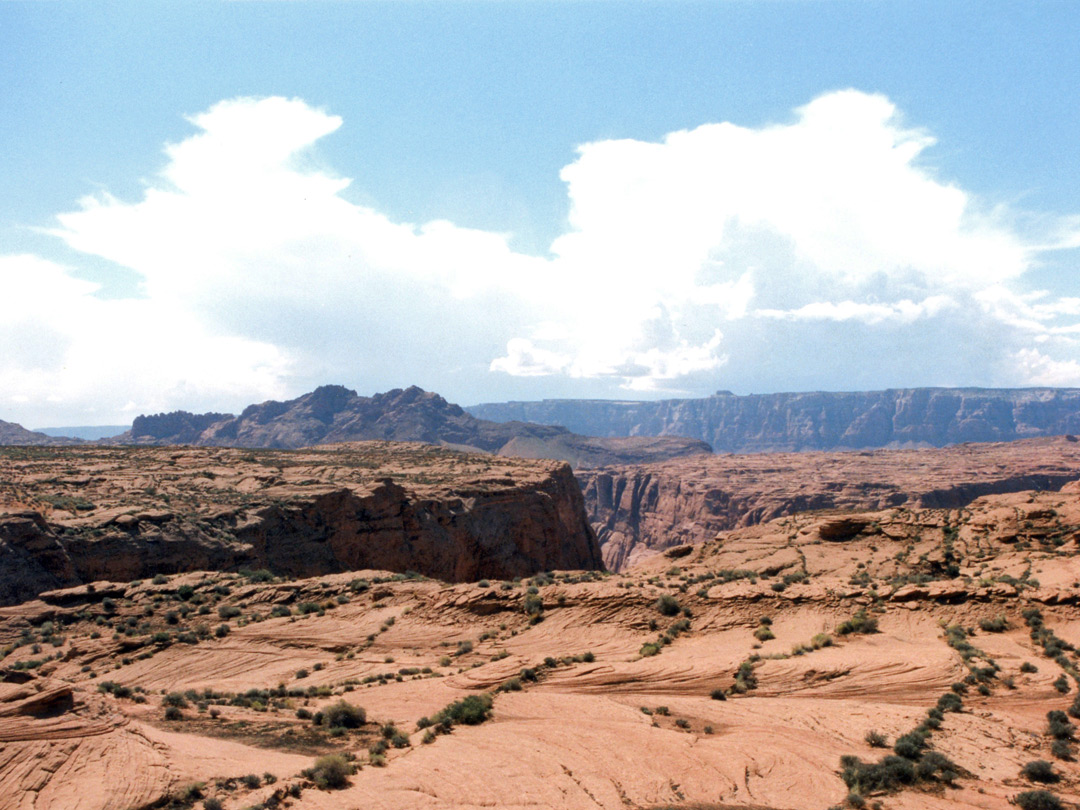 Sandstone plateau near Glen Canyon