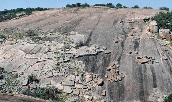 Enchanted Rock State Natural Area Near Fredericksburg Texas