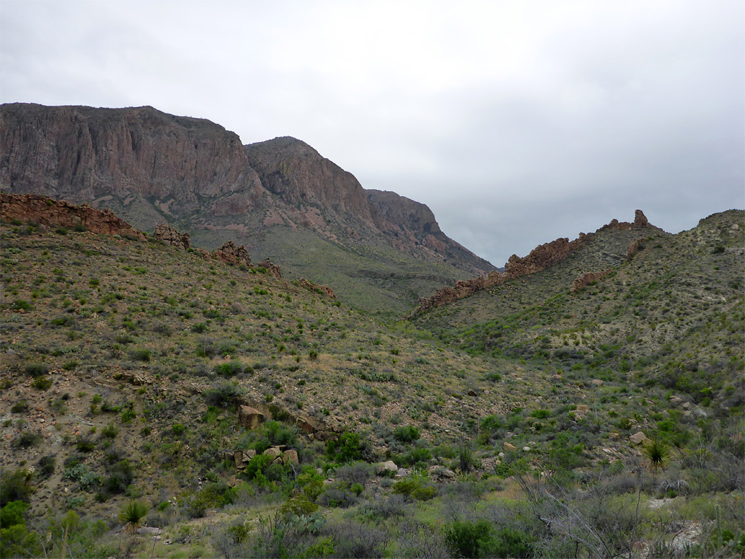 Dikes across the canyon