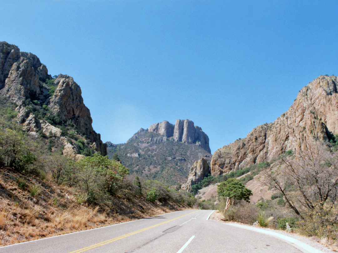 Road into the Chisos Mountains