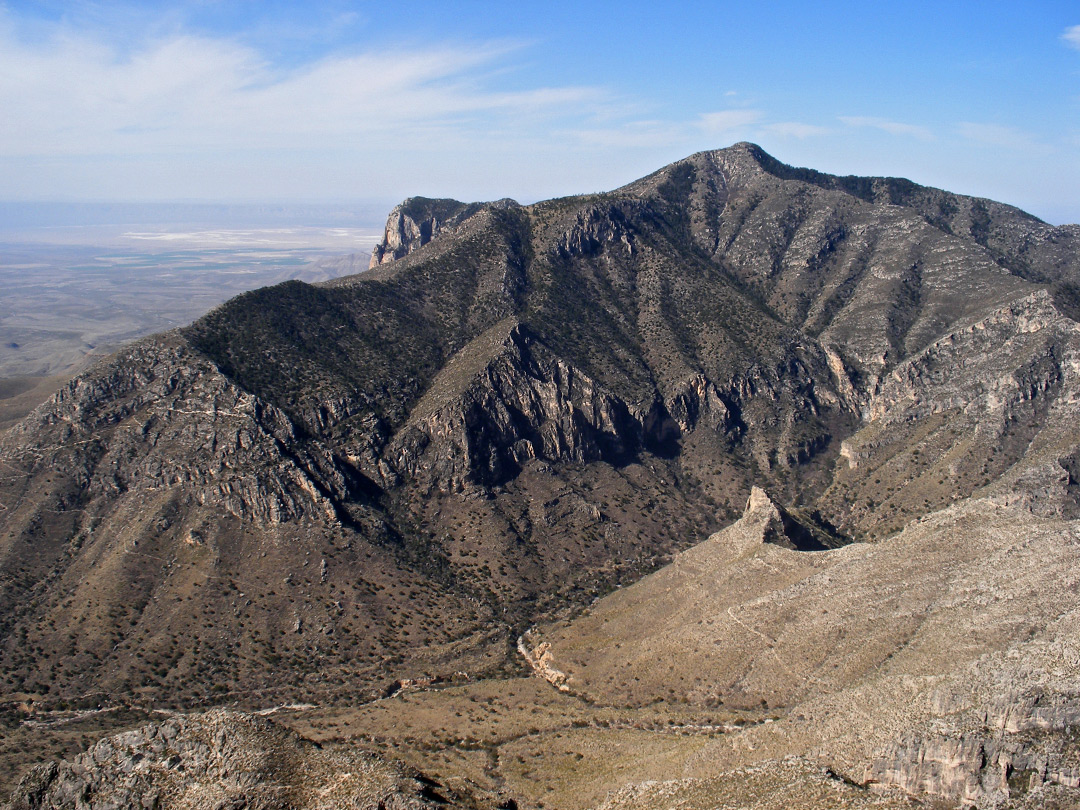 How tall are the guadalupe mountains in texas