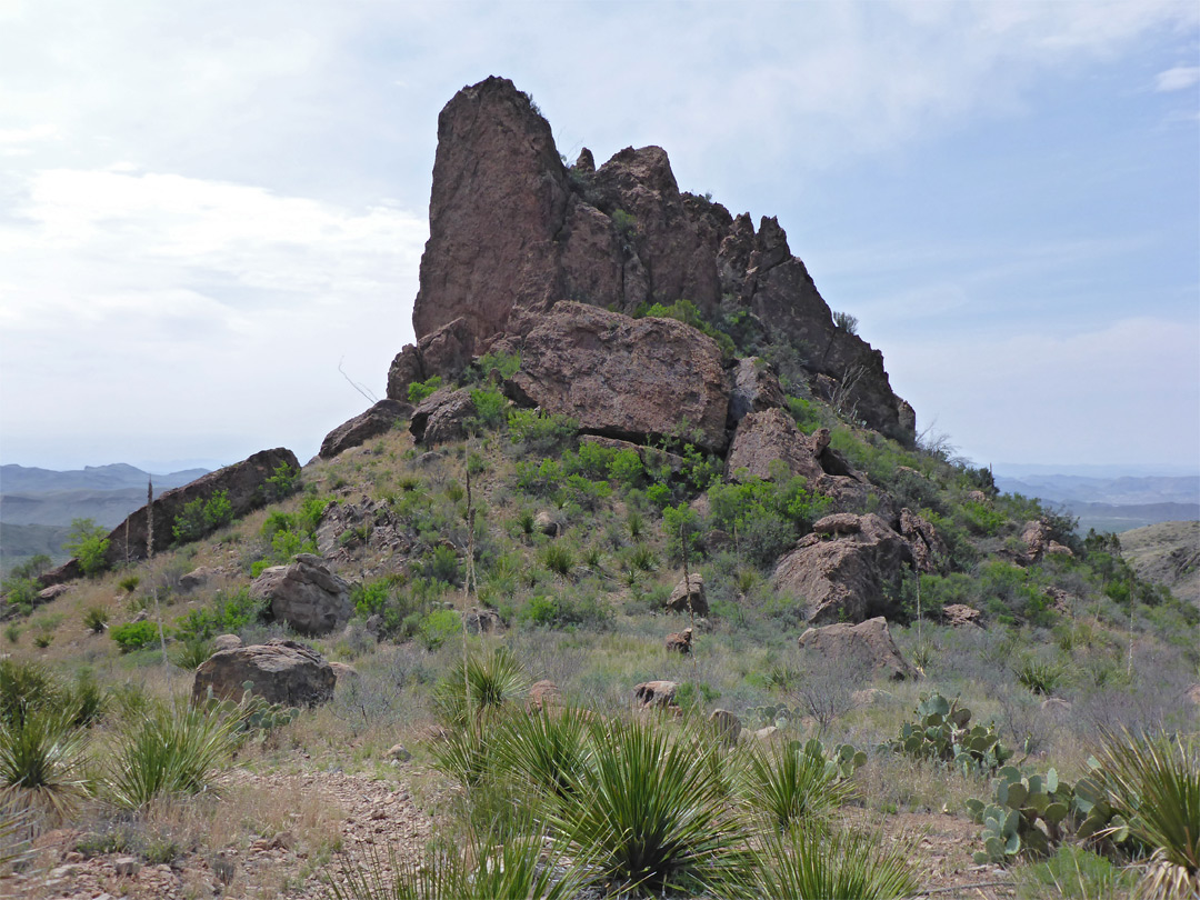 Jagged butte