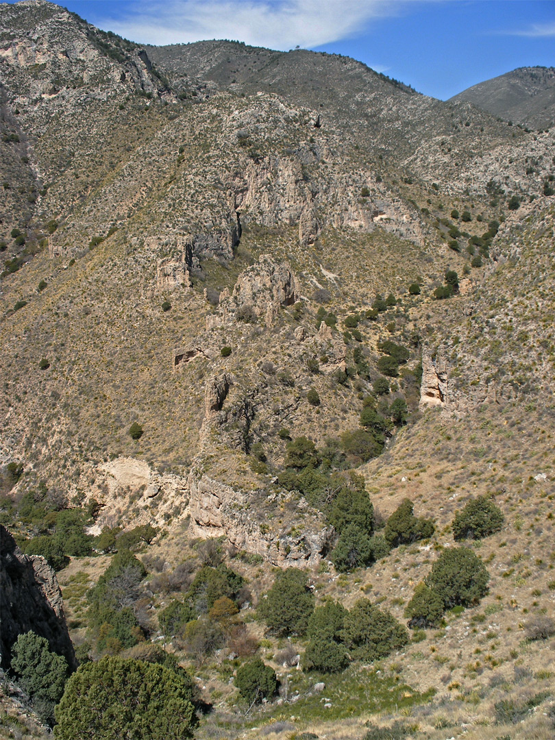 Upper end of Pine Spring Canyon
