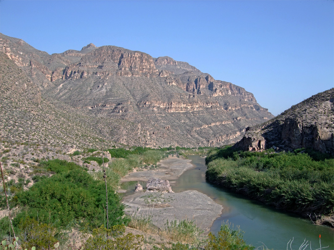 Cliffs along the Rio Grande