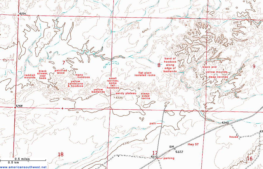 Map of Ah-Shi-Sle-Pah Wilderness Study Area