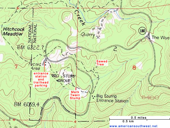 Map of the Big Stump Trail