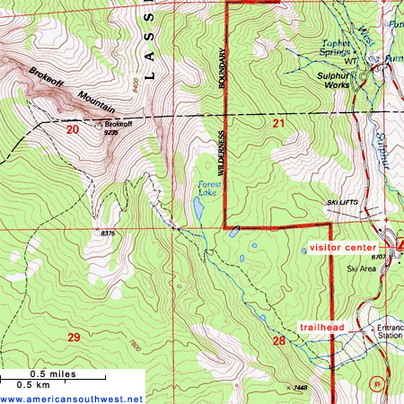Map of the Brokeoff Mountain Trail