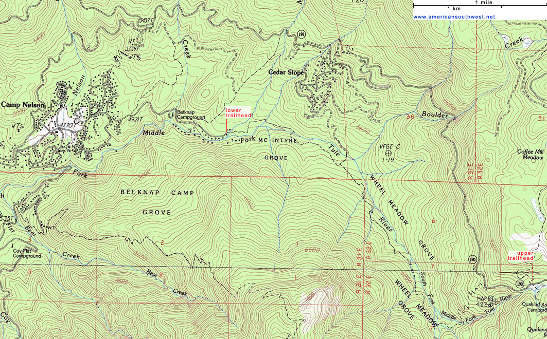 Map of the Camp Nelson Trail
