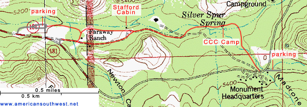 Map of the Silver Spur-Faraway Trail