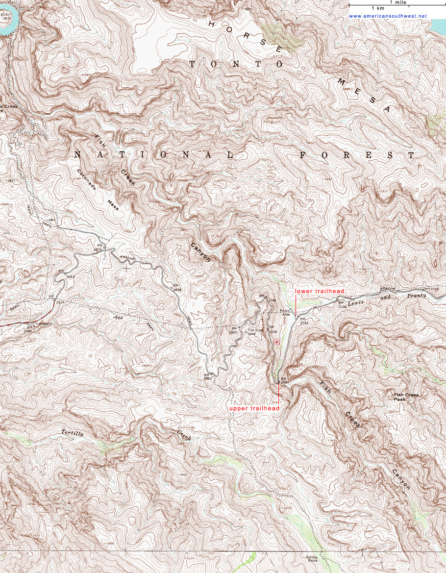 Topographic Map Mountains.Topographic Map Of Fish Creek Superstition Mountains Arizona