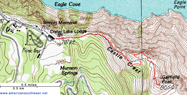 Map of the Garfield Peak Trail