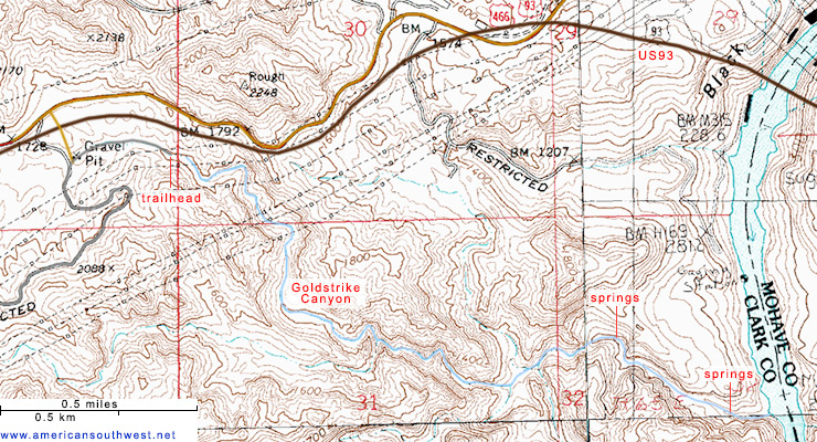 Map O Fhotsprings In Us Globalinterco - Us map from texarkana to grand canyon