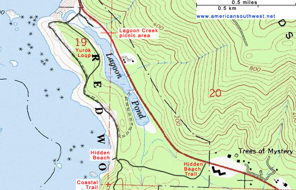 Map of the Hidden Beach Trail