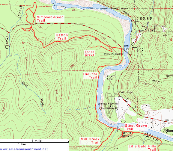 Map of the Stout Grove Trail