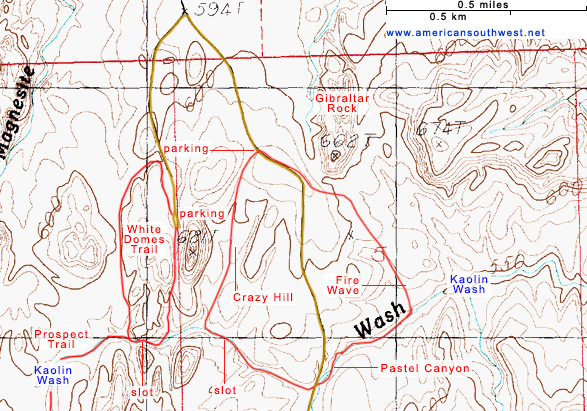 Topo Map of Kaolin Wash