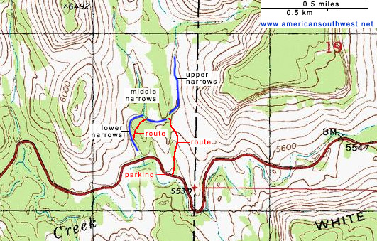 Topographic Map of Keyhole Canyon