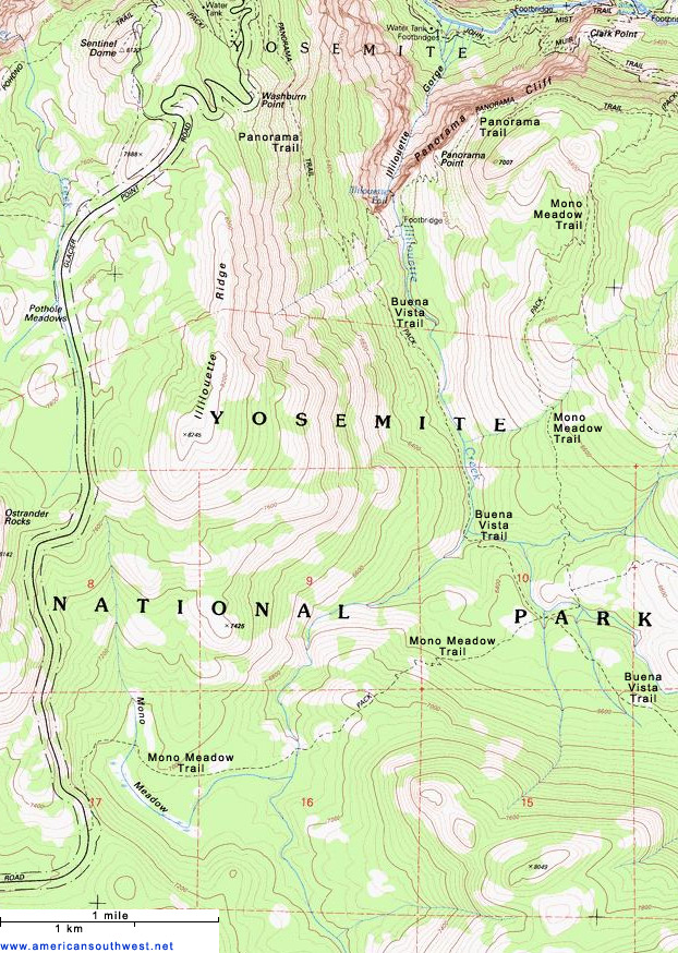Map of the Mono Meadow Trail