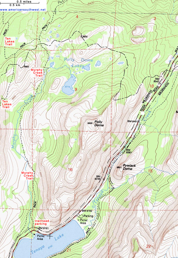 Map of the Murphy Creek Trail