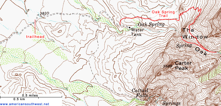 Map of the Oak Spring Trail