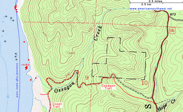Map of the Ossagon Trail