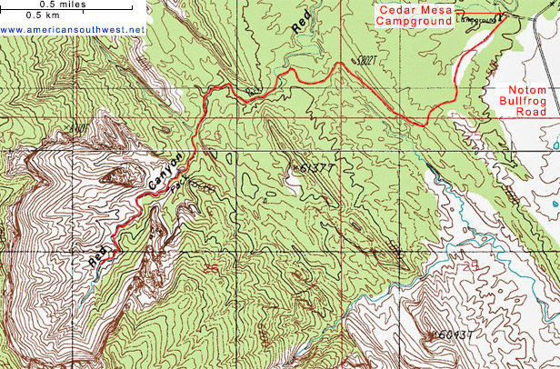 Map of Red Canyon