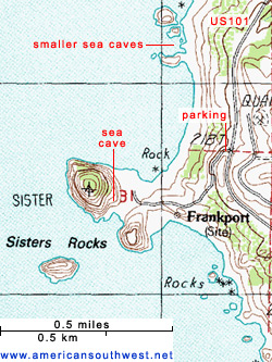 Map of the Sisters Rocks