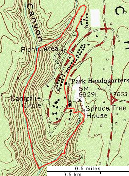 Map of the Petroglyph Point Trail
