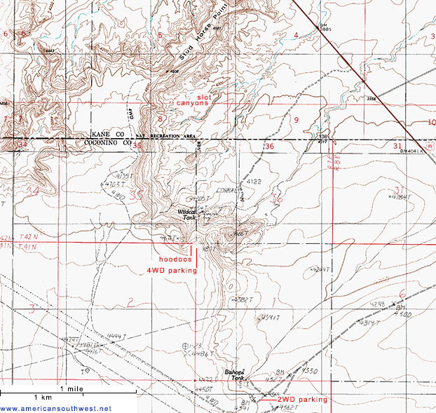 Topographic map of Stud Horse Point