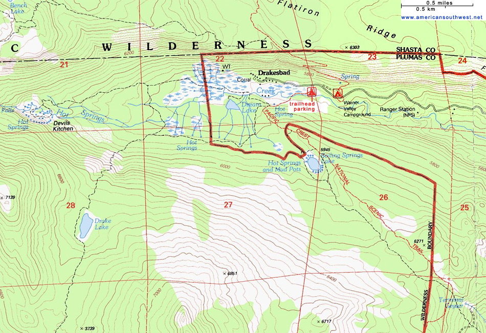Map of Warner Valley