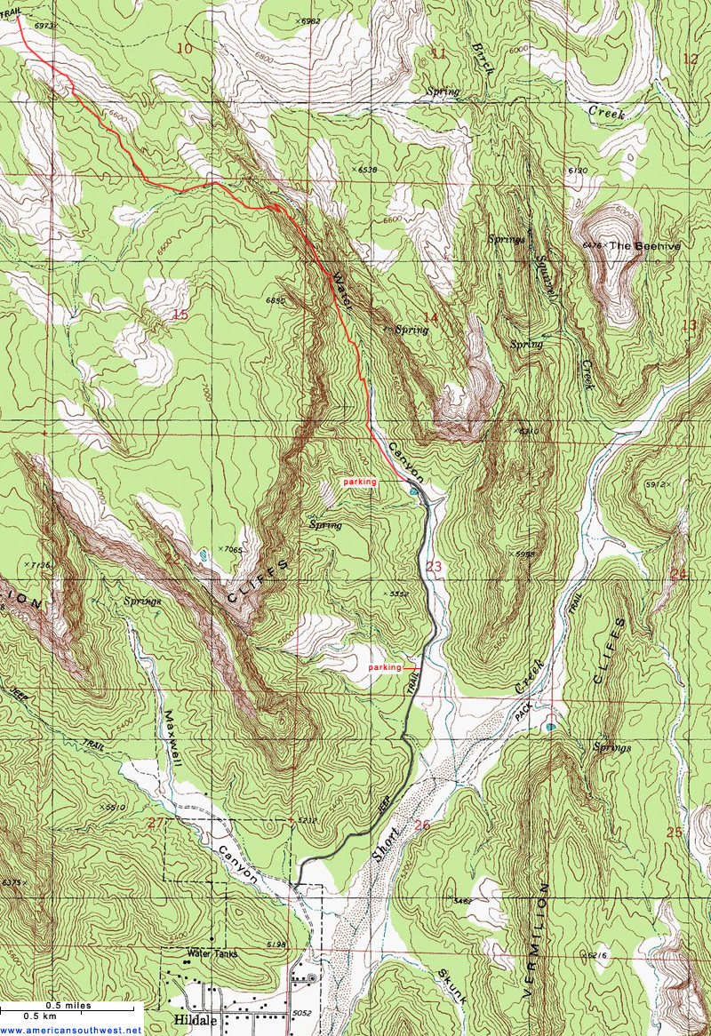 Topographical Map Of Utah Topographic Map of Water Canyon, Hildale, Utah Topographical Map Of Utah