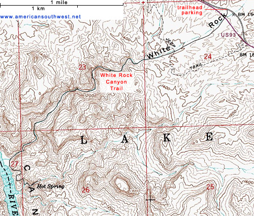 Map of White Rock Canyon