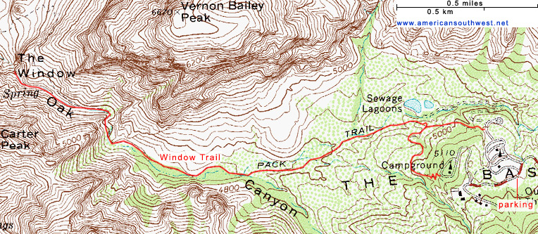 Map of the Window Trail
