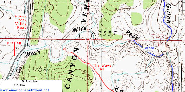 Map of Wire Pass