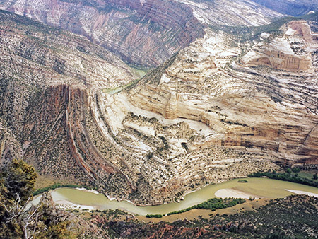 Strata above the Yampa River