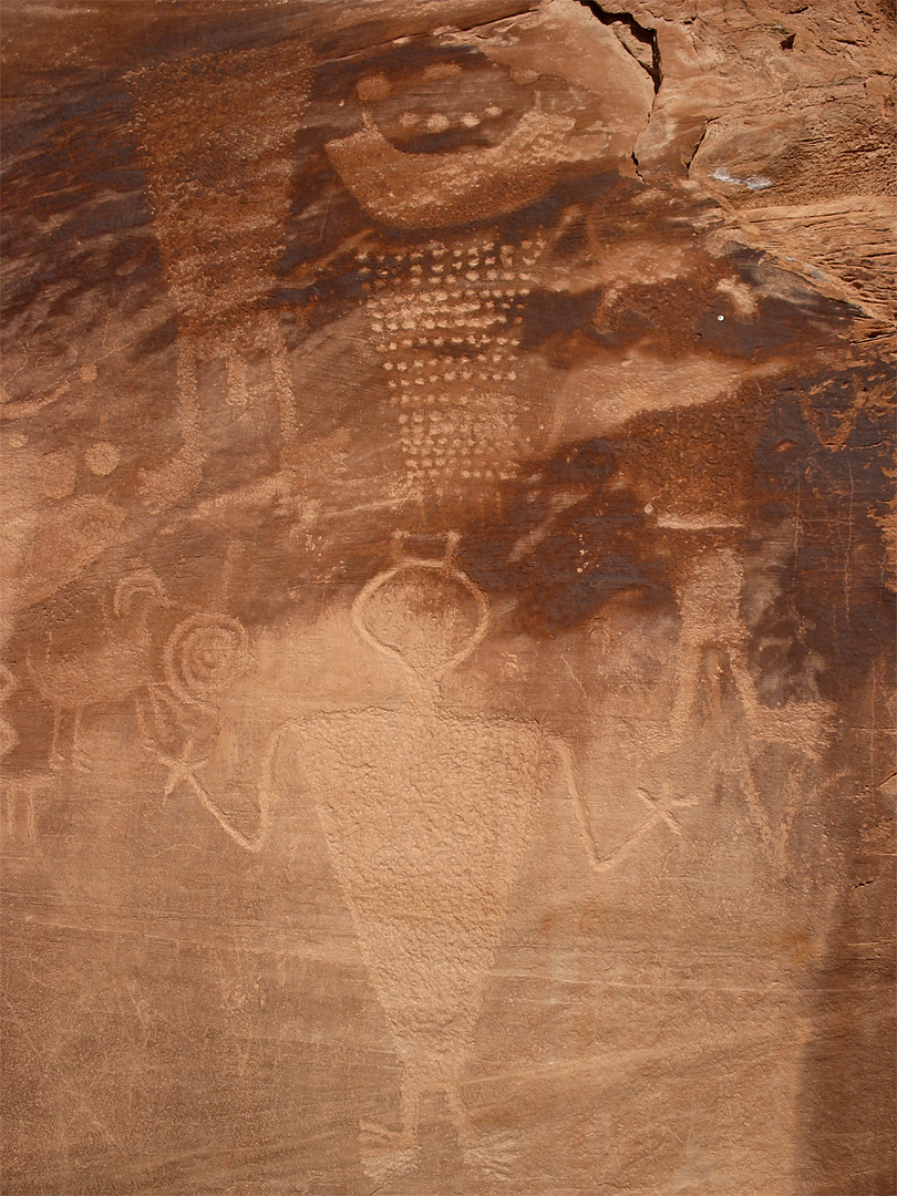 Petroglyphs near Cub Creek