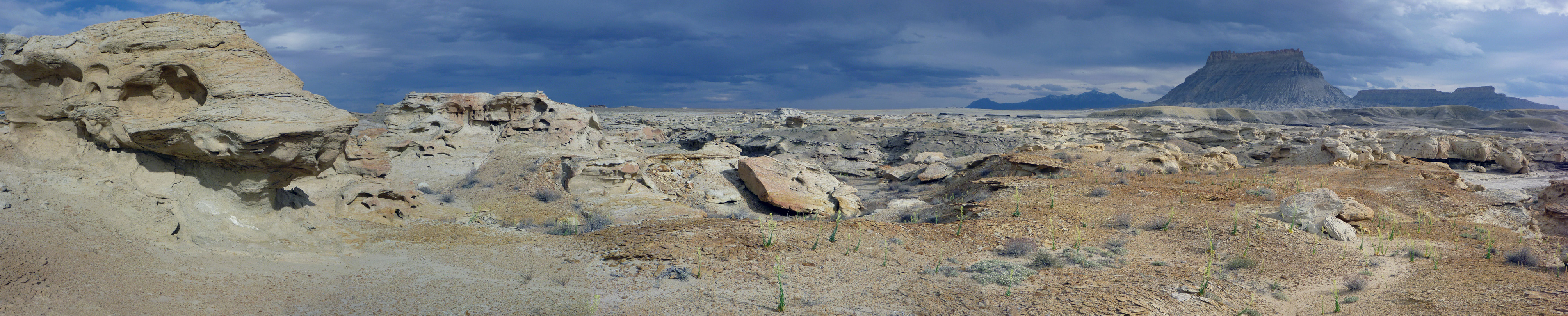 Eroded rocks northwest of Factory Butte